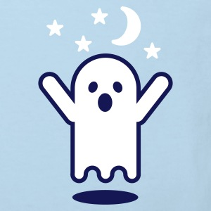 Light blue Glow in the dark ghost Kid's Shirts  - Kids' Organic T-shirt