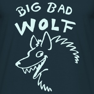 Navy Big bad Wolf T-Shirts - Männer T-Shirt