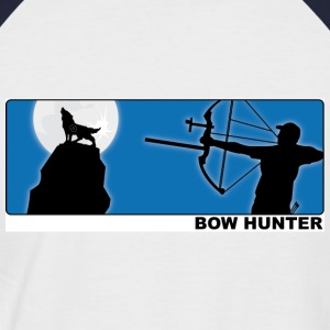 Bowhunter - Wolf - - Männer Baseball-T-Shirt