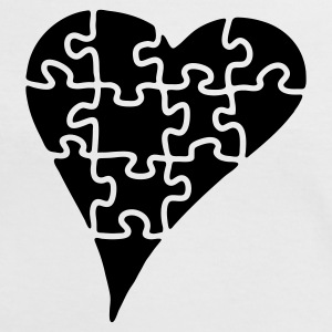 heart_puzzle_2 - Camiseta contraste mujer