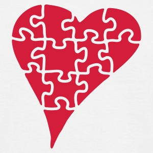 heart_puzzle_2 - T-skjorte for menn