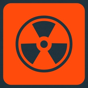 Warning Radioactive (v1, 1c, MPnl) - Mannen T-shirt