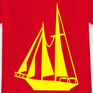 Rot Boot - Schiff Kinder T-Shirts - Teenager T-Shirt
