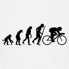 White Evolution of cycling Men's Tees