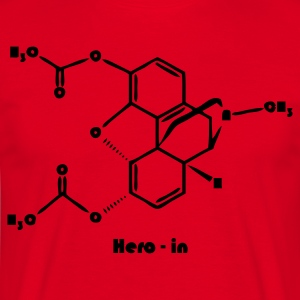 Rouge heroin T-shirts - T-shirt Homme