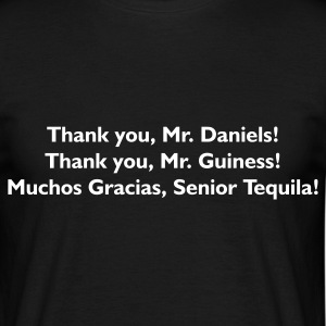 Schwarz Thank You Mr. Alcohol - PrintShirt.at T-Shirts - Männer T-Shirt