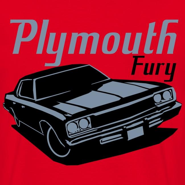 Playmouth Fury T-shrt Herre Basis