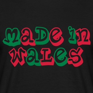 Made in Wales Men's T-Shirt Black - Men's T-Shirt