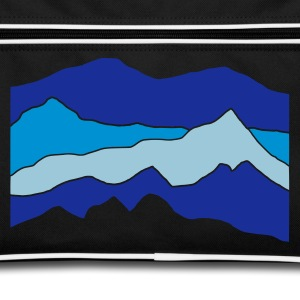 Black/white mountains Bags  - Retro Bag