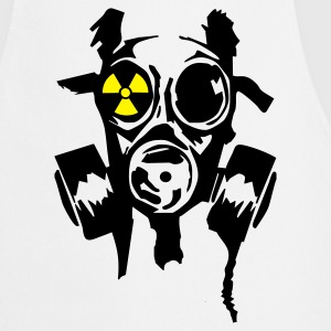 White bad gasmask radioactiv1  Aprons - Cooking Apron