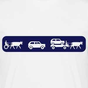 Weiß evolution of mobility T-Shirts - Männer T-Shirt