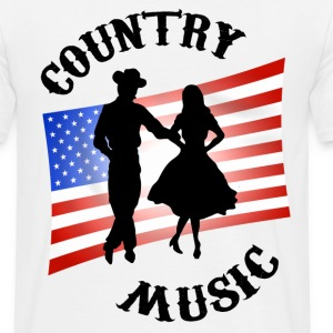 Blanc country music T-shirts - T-shirt Homme