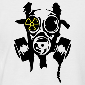 White/black bad gasmask radioactiv2 T-Shirts - Men's Baseball T-Shirt