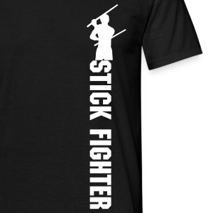 T-Shirt Stick Fighter front and back, loose fit - Männer T-Shirt