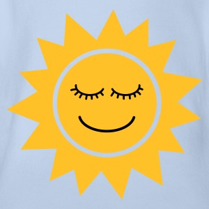 Smiling Sun - Organic Short-sleeved Baby Bodysuit