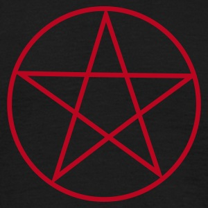 Black Pentagram / Pentacle Men's Tees - Men's T-Shirt