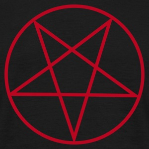 Black Inverted Pentagram / Pentacle Men's Tees - Men's T-Shirt