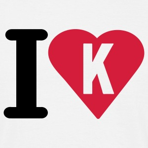 i_love_k - Mannen T-shirt