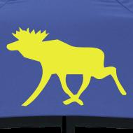 Motiv ~ Schweden-Schirm blau-gelb, mit Schwedenelch.