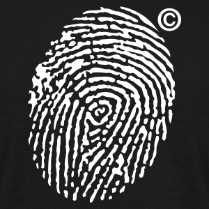 Zwart Fingerprint Copyright T-shirts - Mannen T-shirt