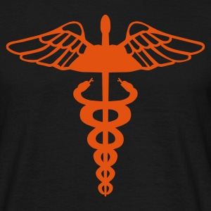 Black Caduceus - Medical Symbol Men's Tees - Men's T-Shirt