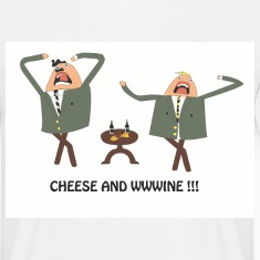 White cheese and wine Men's Tees