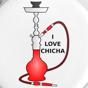 Badge 25mm Chicha rouge - Badge petit 25 mm