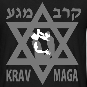 Black Krav Maga Star of David Men's Tees - Men's T-Shirt