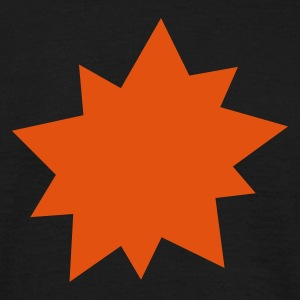 Black Explosion Star Men's Tees - Men's T-Shirt