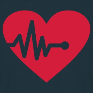 Heartbeat (v1, 1c, MPen) - Men's T-Shirt