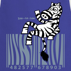 Royal blue Zebra Code  Aprons - Cooking Apron