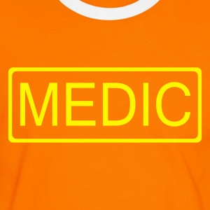 Orange/black medic Men's Tees - Men's Ringer Shirt
