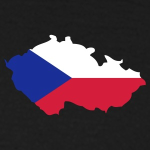 Czech Republic Flag small | Black Shirt - Männer T-Shirt