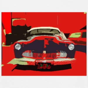 MEN`S CLASSIC T-SHIRT VINTAGE US-CARS - RED 40`S CHOPPED CUSTOM by VAN TRIBE FASHION - T-shirt Homme