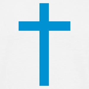 White Simple Cross Men's Tees - Men's T-Shirt