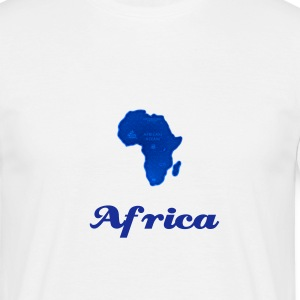 Blue Africa - Men's T-Shirt