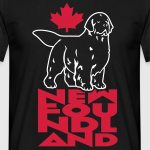 newfoundland__can_black__black__2c T-Shirts - Men's T-Shirt