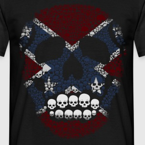 Mosaic Rebel Skull Flag - Men's T-Shirt