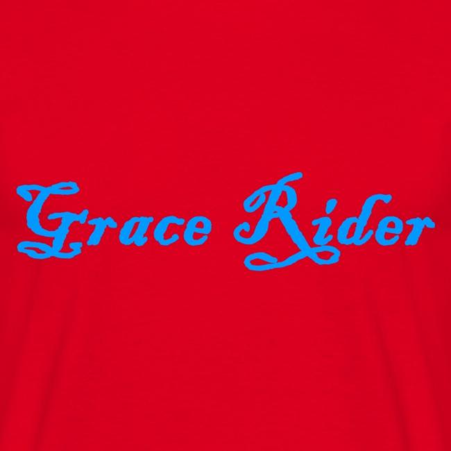 GRACE RIDER T-Shirt (blau auf rot) MEN
