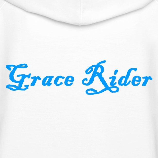 GRACE RIDER Hoodie (blau auf weiß) WOMEN