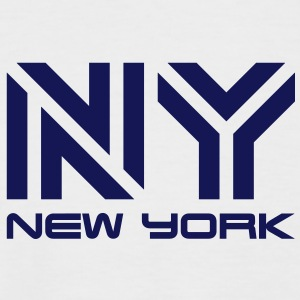 New York__V005 Tee shirts - T-shirt baseball manches courtes Homme