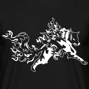 fire wolf black - T-shirt Homme