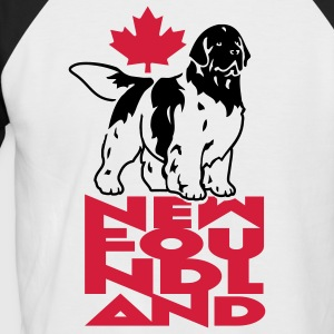 newfoundland__can_white__black_white__2c Tee shirts - T-shirt baseball manches courtes Homme