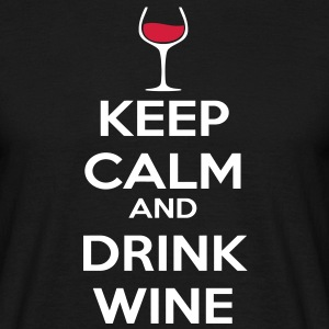 Keep Calm and drink wine T-shirts - T-shirt herr