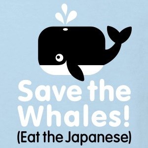 Save the Whales! Eat the Japanese Tee shirts Enfants - T-shirt Bio Enfant