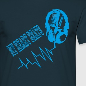 Music & Heart Beats T-shirt - Männer T-Shirt