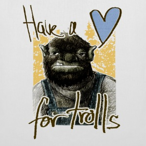 have a heart for trolls - Stoffbeutel