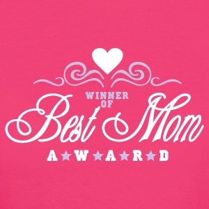 Neonrosa Vinner av beste mamma Award / Winner of Best Mom Award (2c) Damer - Økologisk T-skjorte for kvinner
