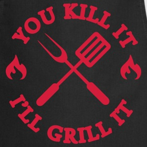You kill it - I'll grill it Fartuchy - Fartuch kuchenny