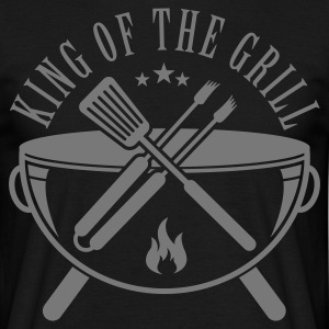 Schwarz King of the Grill T-Shirts - Männer T-Shirt